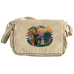 St.Francis #2/ Schnauzer #2 Messenger Bag