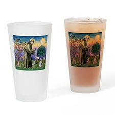 St Francis & Schnauzer (#5) Drinking Glass