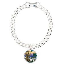 St.Francis (w) / 2 Shelties Bracelet