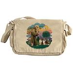 St.Francis #2/ 2 Shelties Messenger Bag