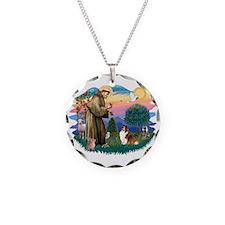 St.Francis #2/ Sheltie (sw) Necklace
