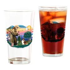 St.Francis #2/ Sheltie (sw) Drinking Glass