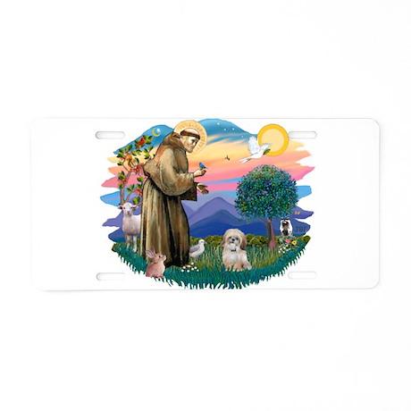 St.Francis #2/ Shih Tzu. (P) Aluminum License Plat