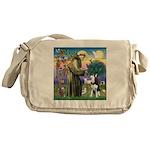 St Francis & Husky Messenger Bag