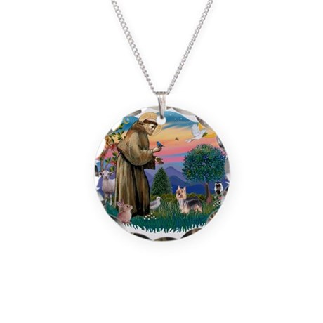 St.Francis #2/ Silky Ter.#9 Necklace Circle Charm