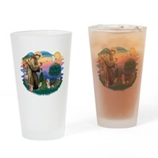 St.Francis #2/ Silky Ter.#9 Drinking Glass