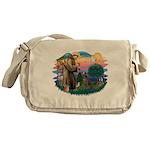 St.Francis #2/ Weimaraner #1 Messenger Bag