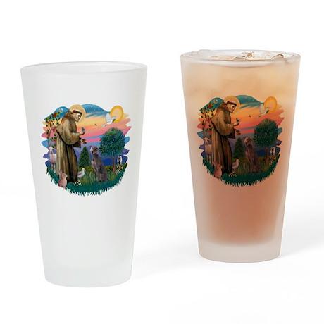 St.Francis #2/ Weimaraner #1 Drinking Glass
