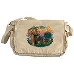 St Francis #2 / Weimaraner Messenger Bag