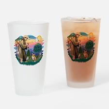 St.Francis #2 / Welsh Corgi ( Drinking Glass