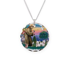 St.Francis #2/ Westies (2) Necklace