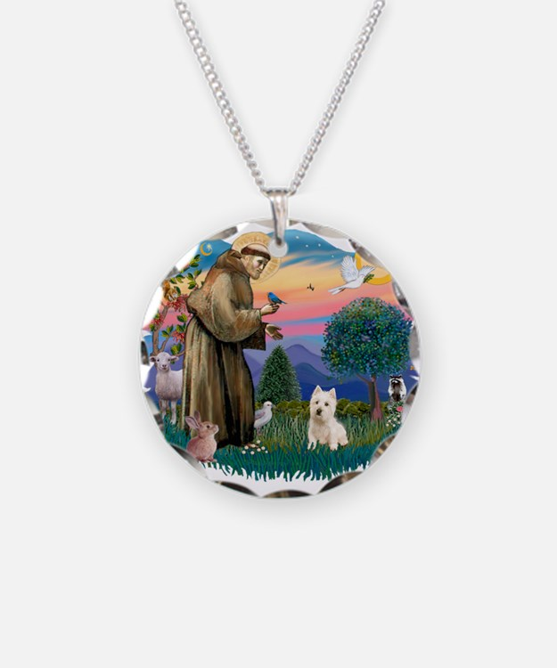 St Francis #2/ Westie Necklace