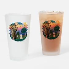 St Francis #2/ Westie Drinking Glass