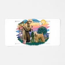 St Francis #2/ Wheaten Aluminum License Plate