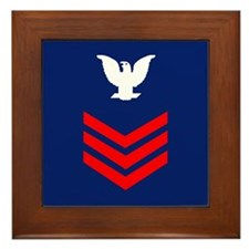 Petty Officer First Class Framed Tile