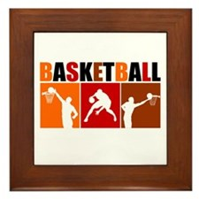 3UP Basketball Framed Tile