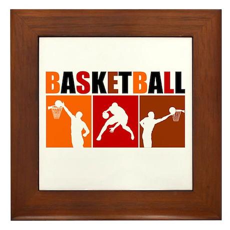 3UP Basketball Framed Tile