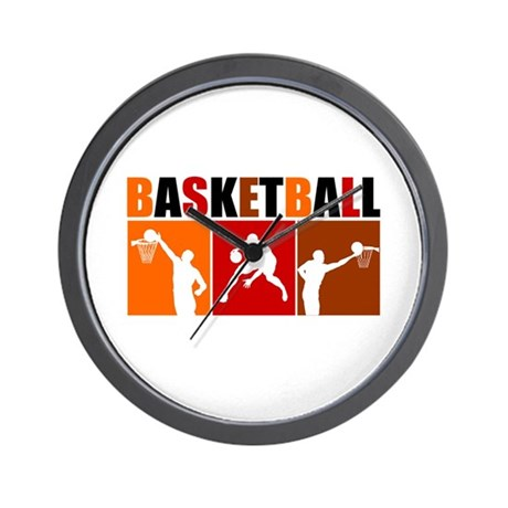 3UP Basketball Wall Clock
