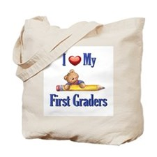 I Love My First Graders Tote Bag
