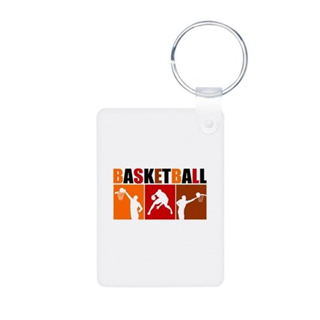3UP Basketball Aluminum Photo Keychain