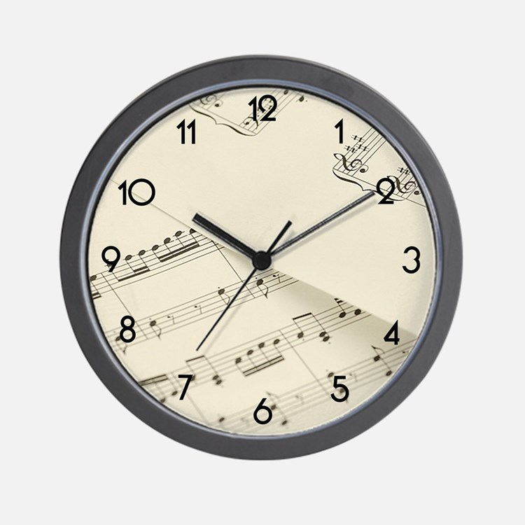 Sheet Music Wall Clock