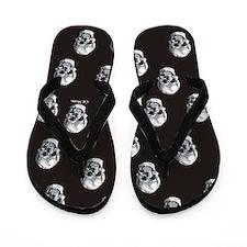 Black Skull Flip Flops