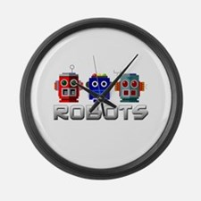 Robots Large Wall Clock