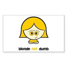 Blonde not Dumb Rectangle Decal
