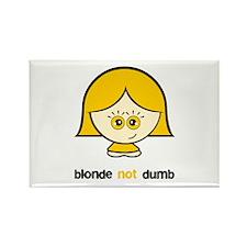 Blonde not Dumb Rectangle Magnet