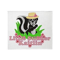 Little Stinker Kaitlin Throw Blanket