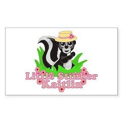 Little Stinker Kaitlin Sticker (Rectangle)