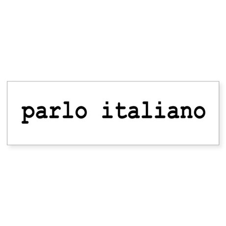 I speak Italian Sticker (Bumper)