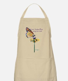 Monarch butterfly resting Apron