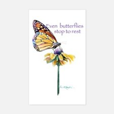 Monarch butterfly resting Sticker (Rectangle)