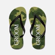 Wedding GROOM camo Flip Flops