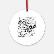 Coyote Pups Ornament (Round)