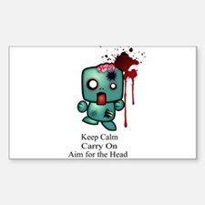 Keep Calm, Carry On, Aim for Sticker (Rectangle)