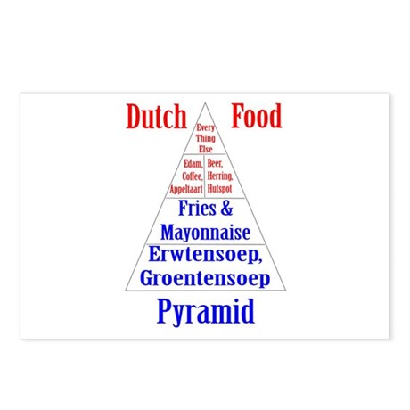 Dutch Food Pyramid Postcards (Package of 8)