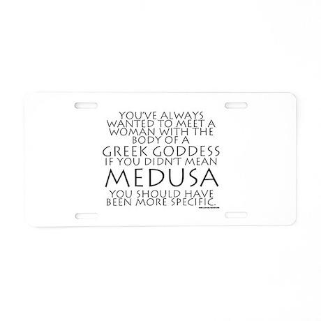 Medusa Aluminum License Plate