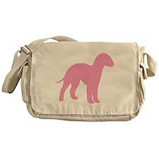 Pink Bedlington Messenger Bag