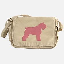 Pink Bouvier Des Flandres Messenger Bag