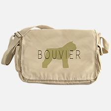 Bouvier Dog Sage w/ Text Messenger Bag