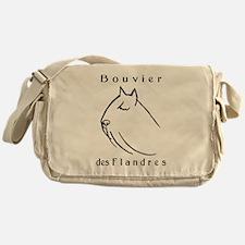 Bouvier Head Sketch w/ Text Messenger Bag