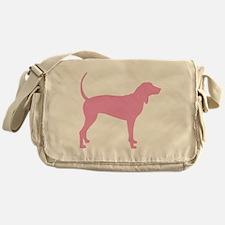 Pink Coonhound Messenger Bag