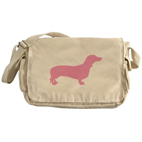 Pink Dachshund Messenger Bag