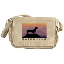 Funny Dachshund puppy Messenger Bag