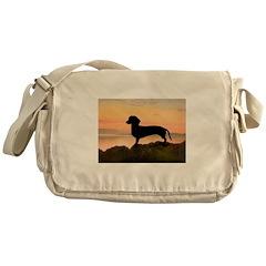Dachshund Sunset Messenger Bag