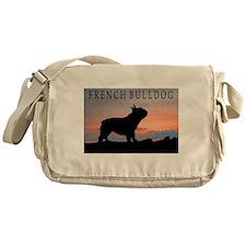 French Bulldog Sunset Messenger Bag