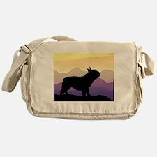 Frenchie Purple Mt. Messenger Bag