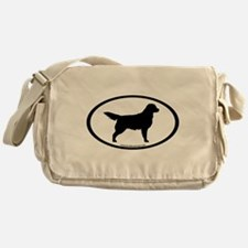 Golden Retriever Oval Messenger Bag